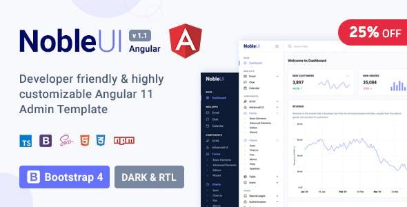 NobleUI - Angular 11+ Admin Template