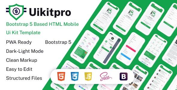 UikitPro - Multipurpose e-Wallet HTML Mobile Template - Mobile Site Templates