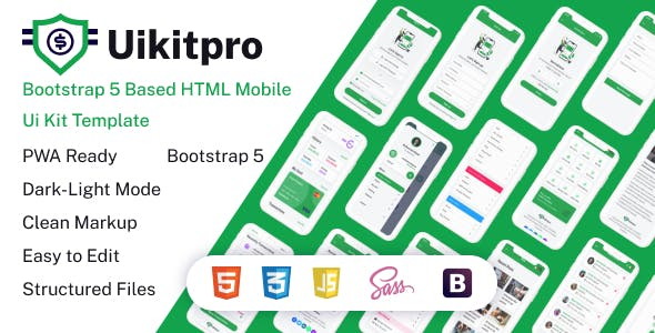 UikitPro - Multipurpose e-Wallet HTML Mobile Template