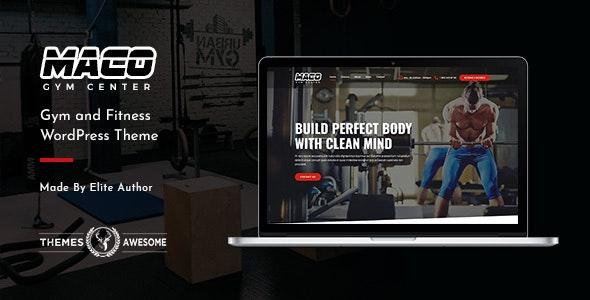 Maco v1.6 – Gym and Fitness WordPress Theme