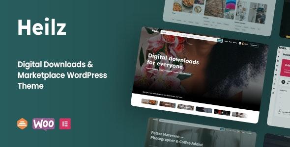 Heilz v1.0 – Digital Downloads & Marketplace WordPress Theme