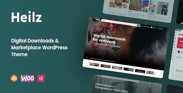 Heilz - Digital Downloads & Marketplace WordPress Theme