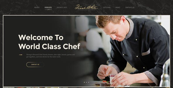 Alanzo | Personal Chef & Wedding Catering Event WordPress Theme