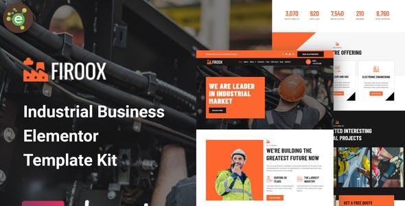 Firoox - Industrial Business Elementor Template Kit