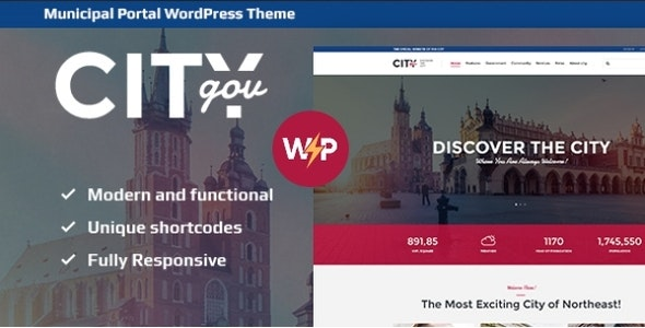 City Government & Municipal Portal Political WordPress Theme - Political Nonprofit