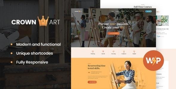 Crown Art   Drawing and Music School WordPress Theme - Education WordPress