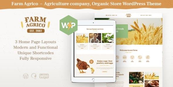 Farm Agrico | Agricultural Business & Organic Food WordPress Theme