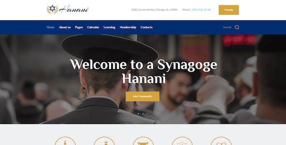 Hanani | Jewish Community & Synagogue WordPress Theme + RTL