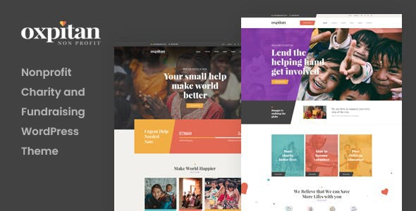 Oxpitan - Nonprofit Charity WordPress Theme - Charity Nonprofit