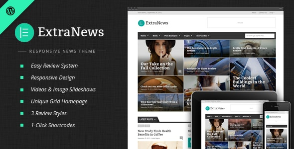 ExtraNews - Responsive News and Magazine Theme - Blog / Magazine WordPress