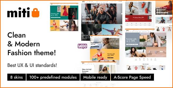 Miti v1.0.2 – Elementor WooCommerce WordPress Theme