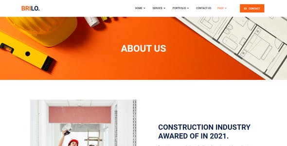 Brilo - Construction & Industry Elementor Template Kit