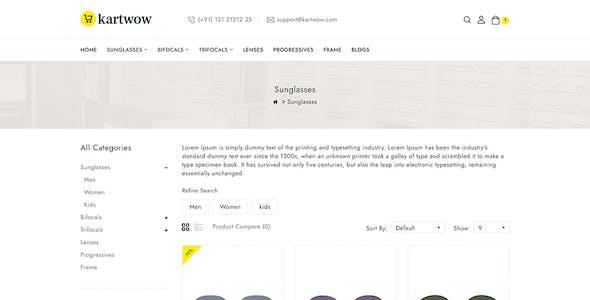 Kartwow - Fashion and Sunglasses OpenCart Theme