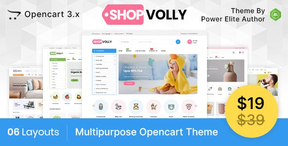 ShopVolly  - Multipurpose OpenCart 3 Theme For Kids & Toys