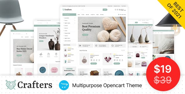 Crafters - Art and Decor Responsive OpenCart Theme