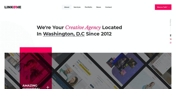 Linkone - Portfolio and Services PSD Template