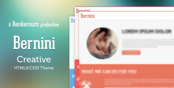 Bernini - Creative HTML5/CSS3 Theme - Creative Landing Pages