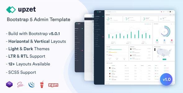 Upzet v1.0 – Admin & Dashboard Template