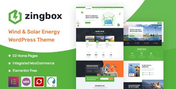 Zingbox – Wind & Solar Energy WordPress Theme