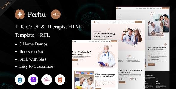 Perhu - Life Coach & Therapist HTML Template - Health & Beauty Retail