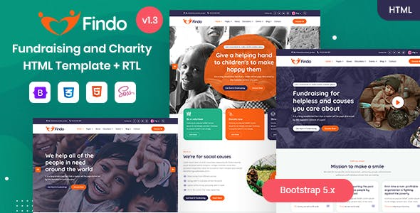 Findo - Fundraising & Charity HTML Template