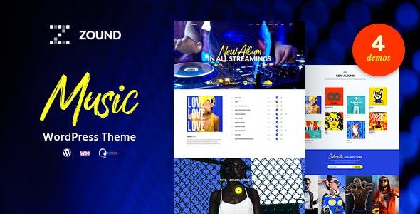 Zound - Music WordPress Theme - Art Creative