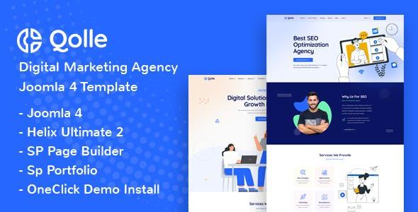 Qolle - Digital Marketing Agency Joomla 4 Template