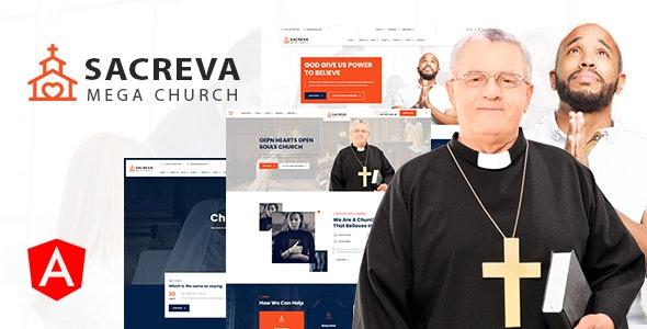 Sacreva - Church Religious Angular Template - Churches Nonprofit