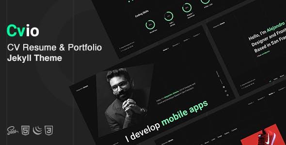 Cvio - CV Resume & Personal Portfolio Jekyll