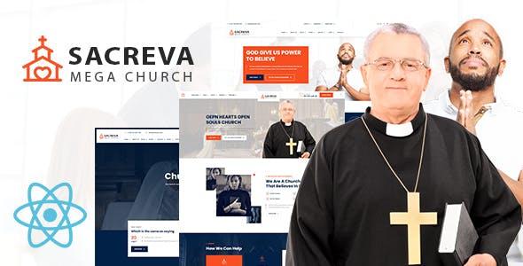 Sacreva - Church And Religious React JS Template