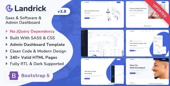 Landrick - Saas & Software Bootstrap 5 Landing & Admin Dashboard Template