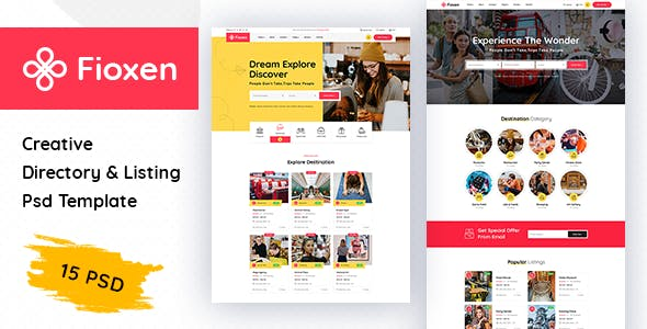 Fioxen - Directory & Listings PSD Template