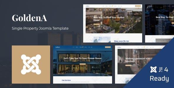 GoldenA - Single Property Joomla 4 Template