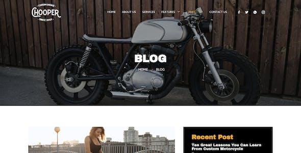Chooper – Custom Motorcycle Garage Elementor Template Kit