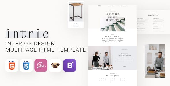 Intric - Interior Design HTML5 Template