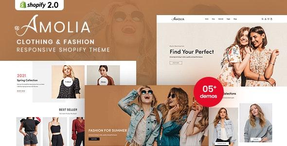 Amolia - Clothing & Fashion Responsive Shopify Theme - Shopify eCommerce
