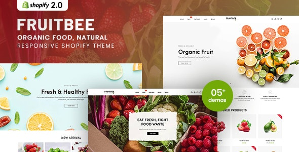 FruitBee - Organic Food, Natural Responsive Shopify Theme - Shopify eCommerce