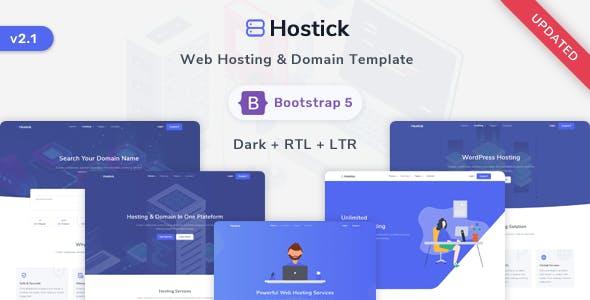Hostick - Bootstrap 5 Web Hosting & Domain Template