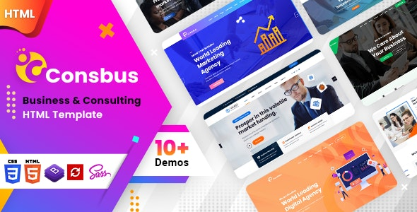 Consbus - One Page Template - Business Corporate