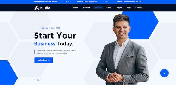Busile –Business Website PSD Template