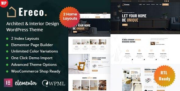 Ereco - Architecture & Interior Design WordPress Theme