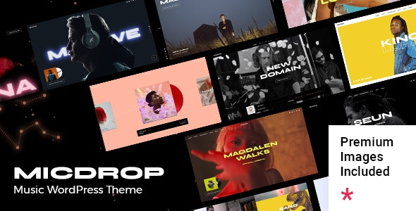 Micdrop - Music WordPress Theme - Music and Bands Entertainment