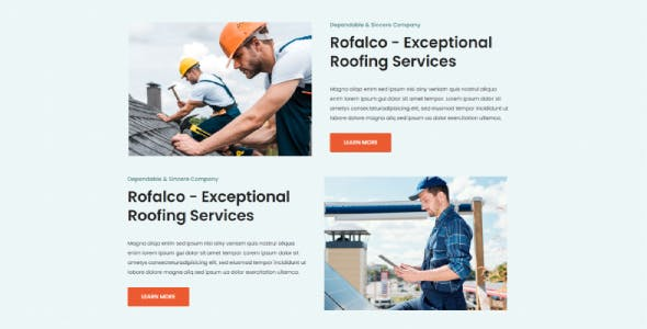 Rofalco - Roofing Services Elementor Template Kit