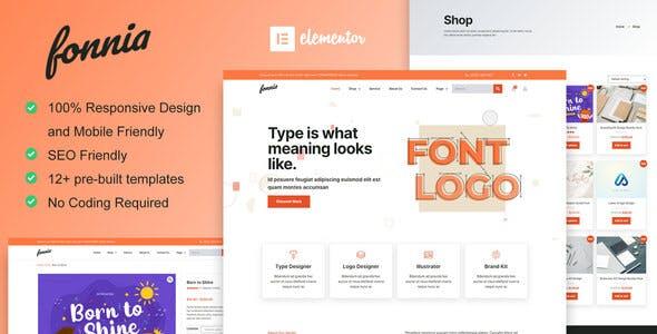 Fonnia - Digital Product Store Elementor Template Kit