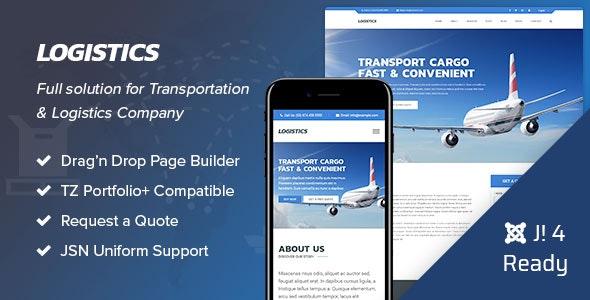 Logistics - Transportation Joomla 4 Template - Business Corporate