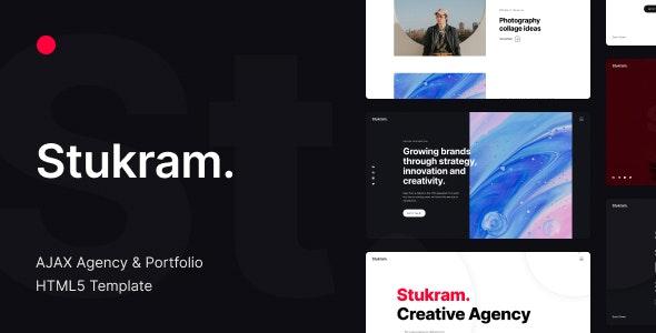 Stukram - AJAX Agency & Portfolio Template - Creative Site Templates