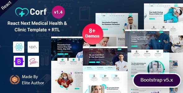 Corf - React Next Doctor & Medical Health Template