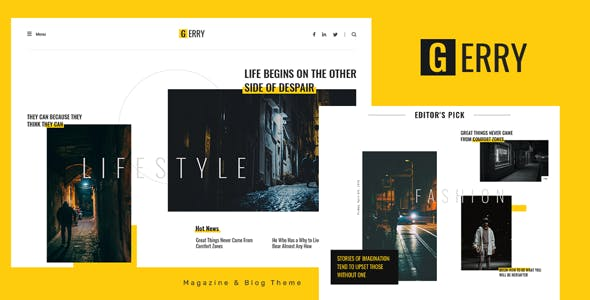 Gerry - Blog and Magazine Ghost Theme