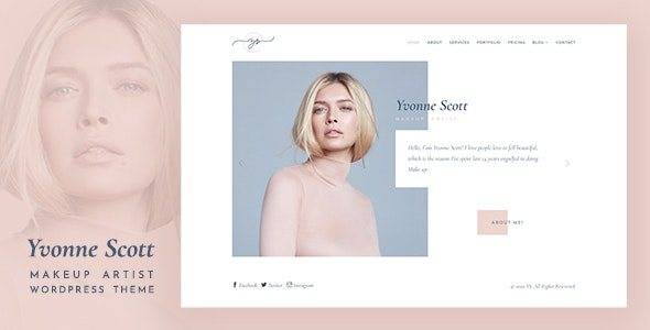 Yvonne - Makeup Artist WordPress Theme - Health & Beauty Retail