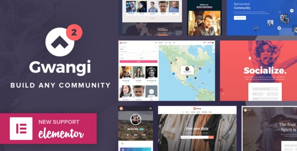 Gwangi v2.3.7 – PRO Multi-Purpose Membership, Social Network & BuddyPress Community Theme